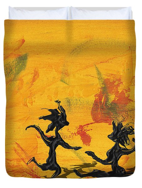 Dance Art Dancing Couple 238 Duvet Cover