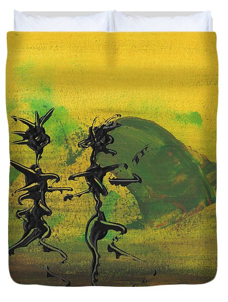Dance Art Dancing Couple Ix Duvet Cover