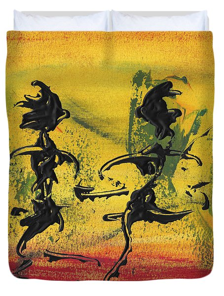 Dance Art Dancing Couple Viii Duvet Cover by Manuel Sueess