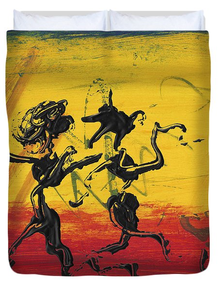 Dance Art Dancing Couple Xii Duvet Cover