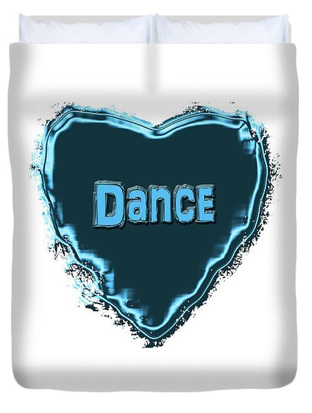 Duvet Cover featuring the digital art Dance by Linda Prewer