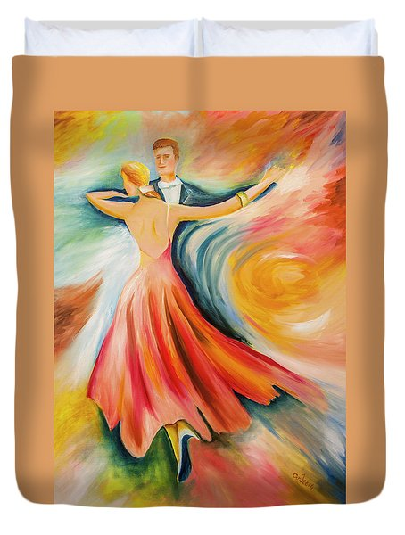Dance Me To The End Of Time Duvet Cover