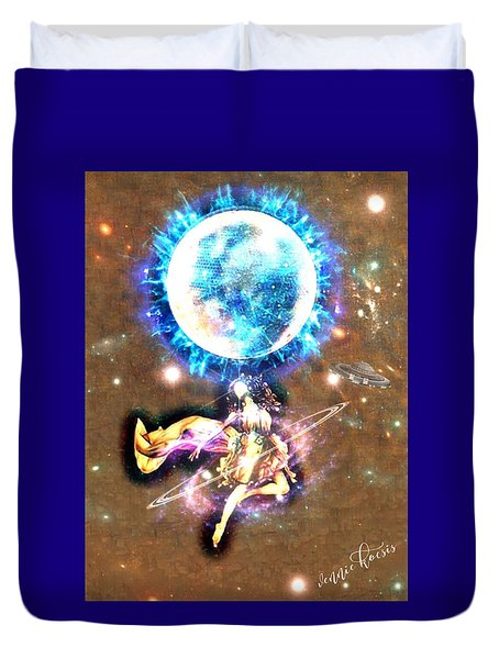 Dance Me To The Moon Duvet Cover