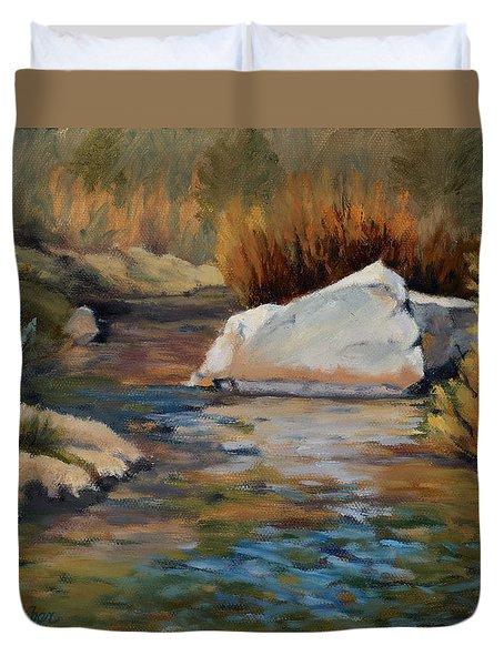 Dance Of Light On Bishop Creek Duvet Cover