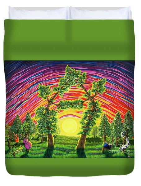 Dance Of Sunset Duvet Cover