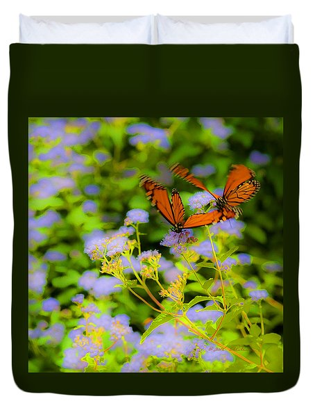 Dance Of The Butterflies Duvet Cover by Edward Peterson