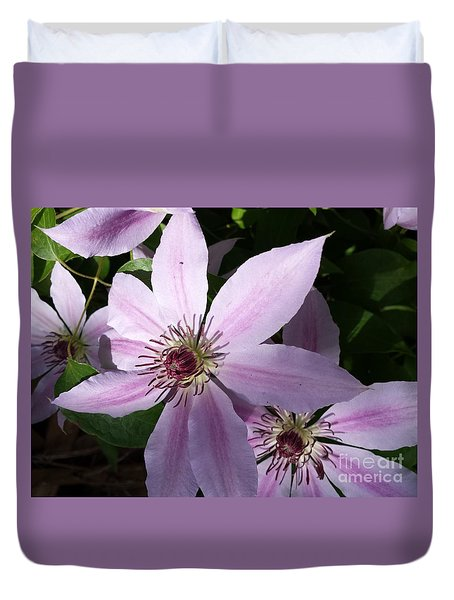 Dance Of The Clematis Duvet Cover