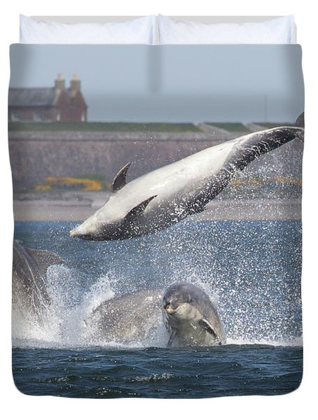 Dance Of The Dolphins Duvet Cover
