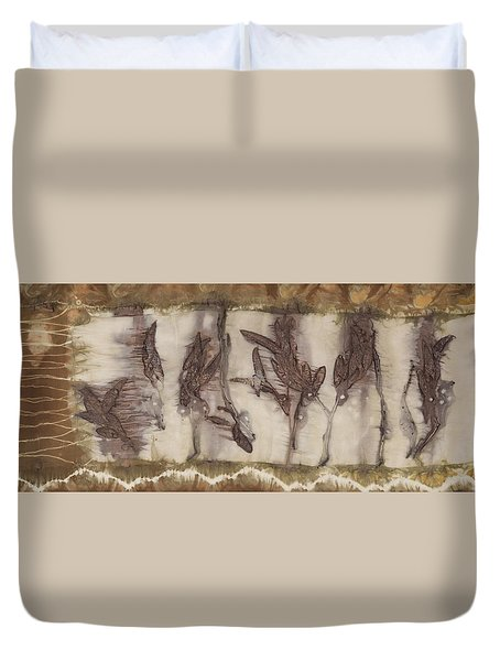 Dance Of The Eucalyptus Leaves Duvet Cover