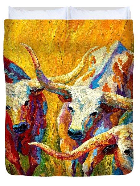 Dance Of The Longhorns Duvet Cover
