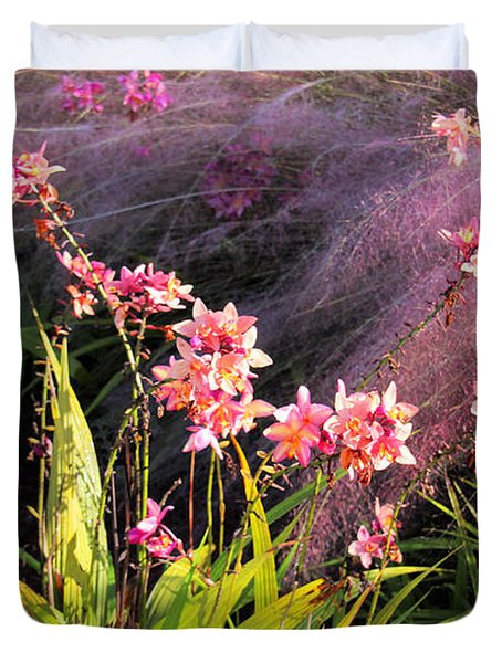 Dance Of The Orchids Duvet Cover