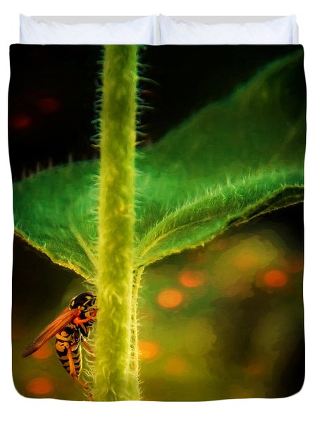 Dance Of The Wasp Duvet Cover