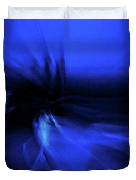 Dance Swirl In Blue Duvet Cover