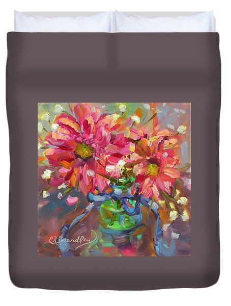 Dance With Daisies Duvet Cover