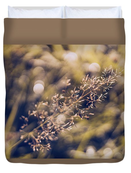Duvet Cover featuring the photograph Dance With Lights by Gene Garnace