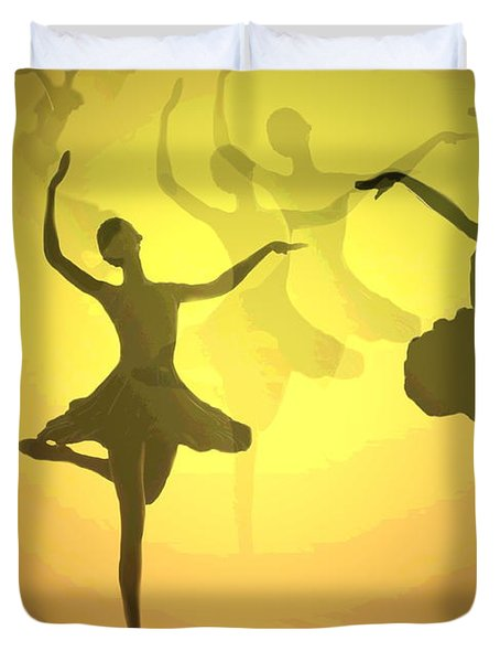 Dance With Us Into The Light Duvet Cover by Joyce Dickens