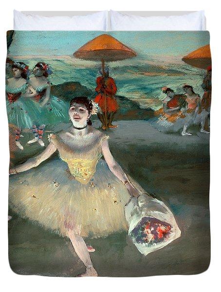 Dancer With Bouquet Duvet Cover by Edgar Degas