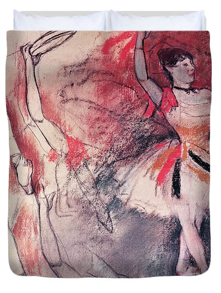 Dancer With Tambourine Or Spanish Dancer Duvet Cover