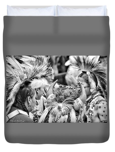 Dancers And Friends Duvet Cover by Clarice  Lakota