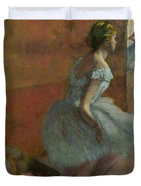 Dancers Ascending A Staircase Duvet Cover by Edgar Degas