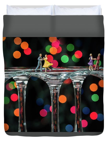Dancers On Wine Glasses Duvet Cover