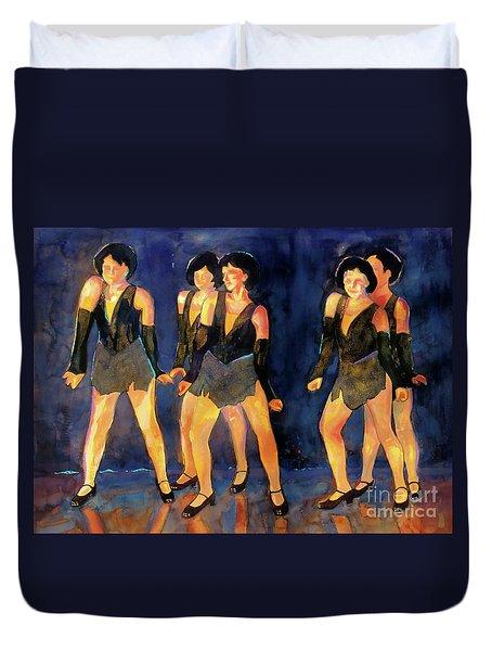 Dancers  Spring Glitz     Duvet Cover