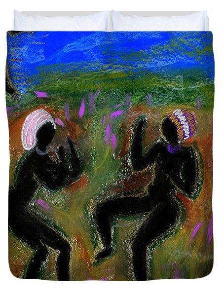 Dancing A Deliverance Prayer Duvet Cover by Angela L Walker