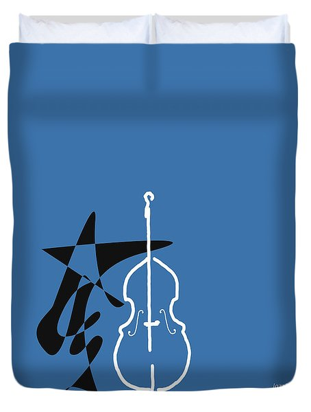 Dancing Bass In Blue Duvet Cover