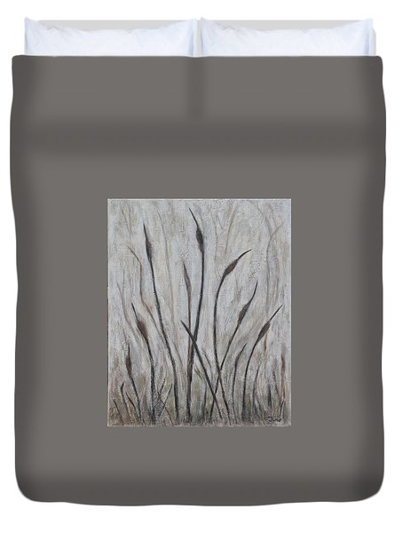 Dancing Cattails 3 Duvet Cover