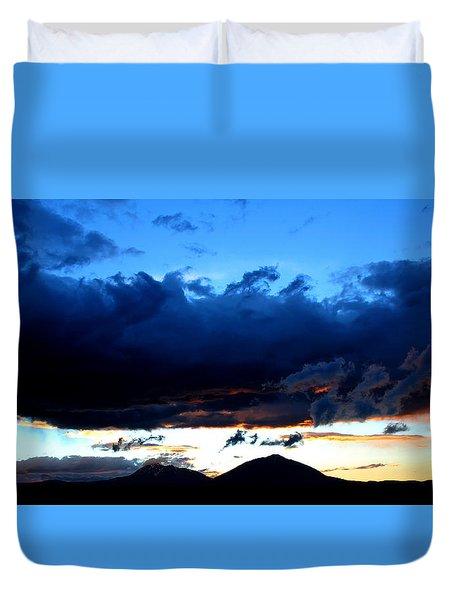Dancing Clouds Duvet Cover by Silke Brubaker
