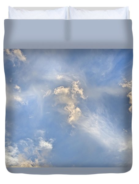Duvet Cover featuring the photograph Dancing Clouds by Wanda Krack