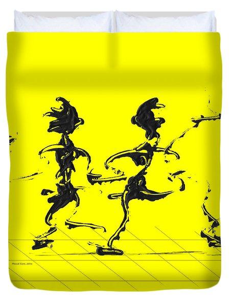 Dancing Couple 3 - Yellow Duvet Cover