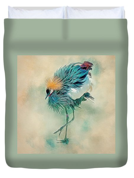 Dancing Crane Duvet Cover