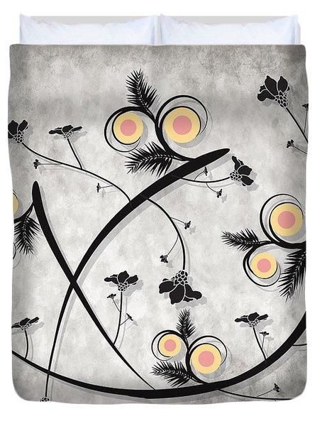 Dancing Flowers Duvet Cover by Milena Ilieva