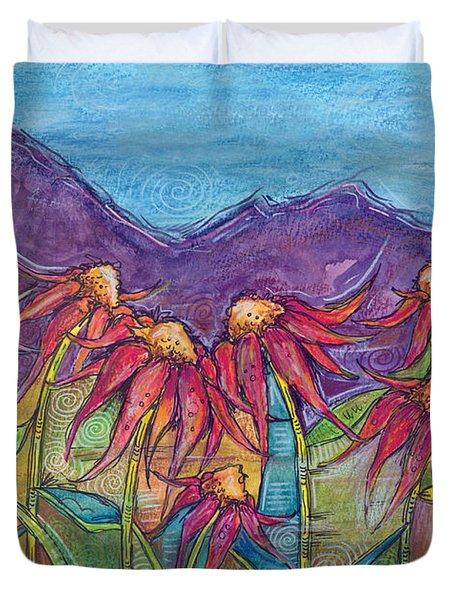 Dancing Flowers Duvet Cover