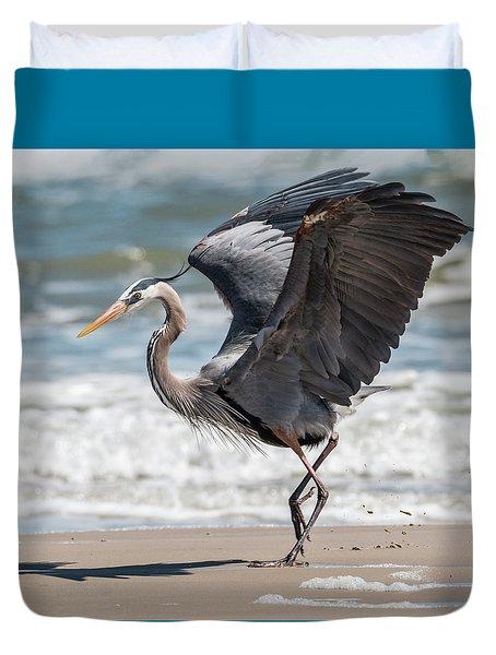 Dancing Heron #2/3 Duvet Cover