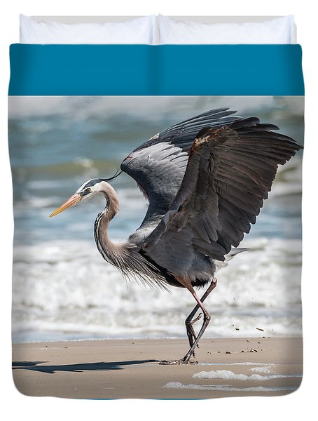 Dancing Heron #2/3 Duvet Cover by Patti Deters