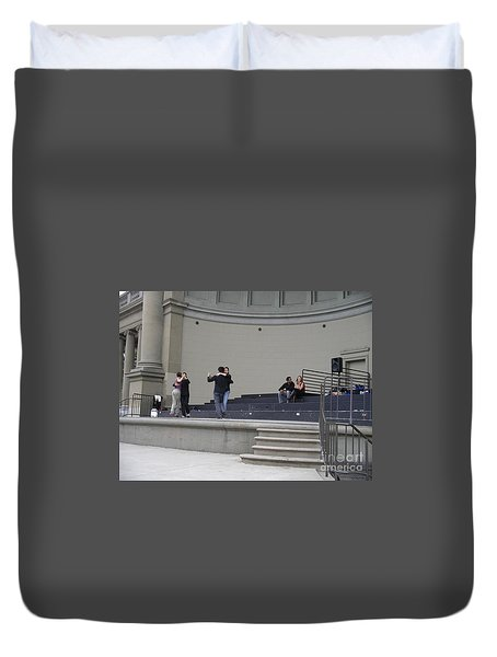 Duvet Cover featuring the photograph Dancing In Golden Gate Park by Cynthia Marcopulos