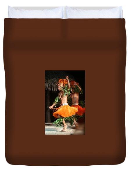 Dancing In Tahiti Duvet Cover