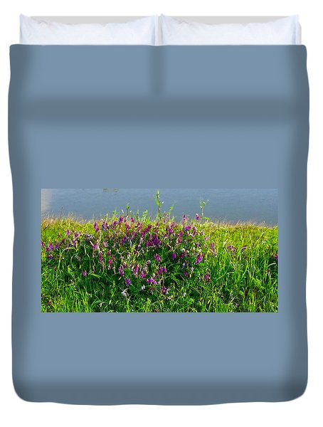 Dancing In The Meadow Duvet Cover