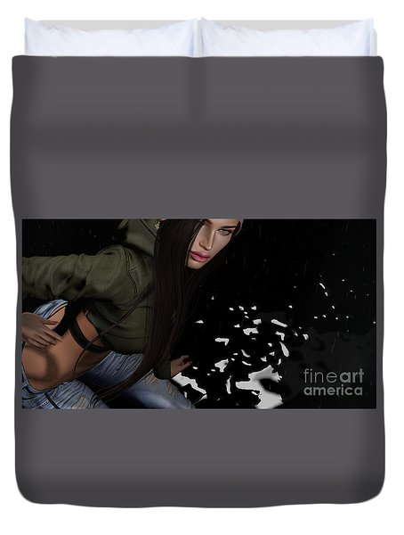 Dancing In The Rain 2 Duvet Cover