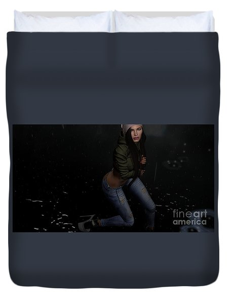 Dancing In The Rain 5 Duvet Cover