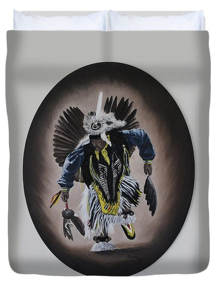 Duvet Cover featuring the painting Dancing In The Spirit by Michael  TMAD Finney