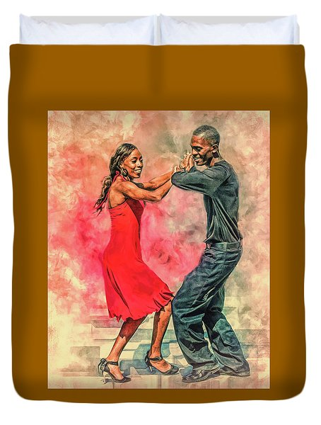 Dancing In The Street Duvet Cover