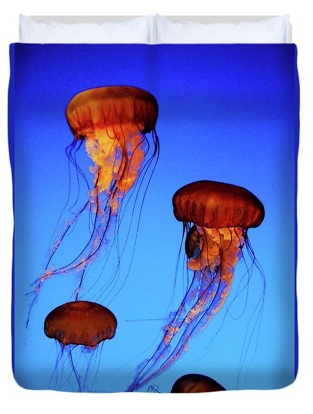 Dancing Jellyfish Duvet Cover