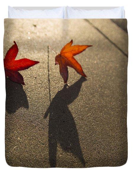 Dancing Leaves Duvet Cover