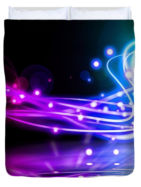 Dancing Lights Duvet Cover by Setsiri Silapasuwanchai