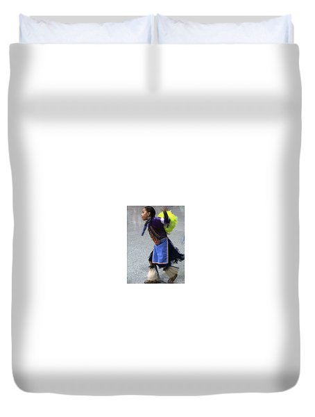 Dancing Native Child Duvet Cover