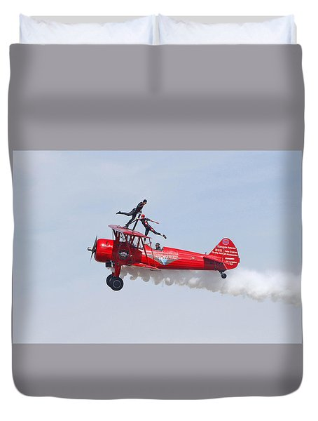 Dancing On The Wings Duvet Cover by Shoal Hollingsworth