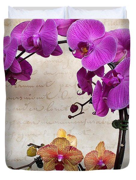 Dancing Orchids Duvet Cover
